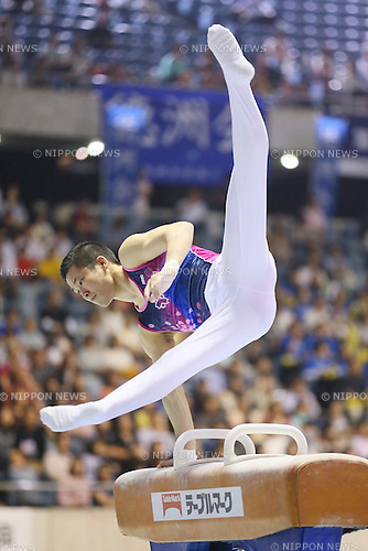 Tomomasa Hasagawa, <br /> MAY 17, 2015 - Artistic Gymnastics : <br /> The 54th NHK Cup <br /> Men's Individual All-Around <br /> Pommel Horse <br /> at Yoyogi 1st Gymnasium, Tokyo, Japan. <br /> (Photo by YUTAKA/AFLO SPORT)