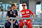 Sebastian Vettel (GER), Red Bull Racing - Kimi Raikkonen (FIN), Scuderia Ferrari<br />  Foto © nph / Mathis