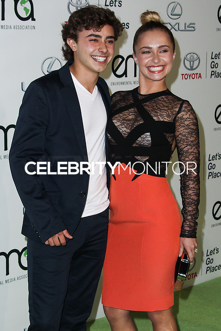 BURBANK, CA - OCTOBER 19: Actress Hayden Panettiere and brother Jansen Panettiere arrive at the 23rd Annual Environmental Media Awards held at Warner Bros. Studios on October 19, 2013 in Burbank, California. (Photo by Xavier Collin/Celebrity Monitor)