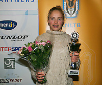 01-12-13,Netherlands, Almere,  National Tennis Center, Tennis, Winter Youth Circuit, Girls 16 years ,second place: Annabelle Hageman<br /> Photo: Henk Koster