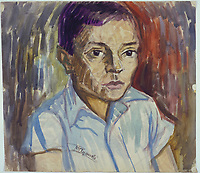 Moshe Rynecki painting - boy<br /> Chasing Portraits (2018) <br /> *Filmstill - Editorial Use Only*<br /> CAP/RFS<br /> Image supplied by Capital Pictures