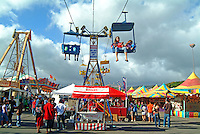 A ride providing a bird's eye view of the 50th State Fair on O'ahu