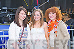 STAGE TIME: Enjoying the bands at the Denny Street stage on Friday l-r: Michelle Williams, Emmie Hall and Katelyn Galvin.
