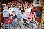 BON VOYAGE: Friends and family of Gary Kelly and Nicola O'Brien (seated centre) gathered in The Mall Tavern on Friday night to bid them farewell and good luck as they are heading off to Australia for a year.   Copyright Kerry's Eye 2008