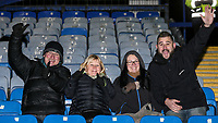 Blackburn Rovers' fans <br /> <br /> Photographer Andrew Kearns/CameraSport<br /> <br /> The EFL Sky Bet League One - Portsmouth v Blackburn Rovers - Tuesday 13th February 2018 - Fratton Park - Portsmouth<br /> <br /> World Copyright &copy; 2018 CameraSport. All rights reserved. 43 Linden Ave. Countesthorpe. Leicester. England. LE8 5PG - Tel: +44 (0) 116 277 4147 - admin@camerasport.com - www.camerasport.com