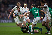 17th March 2018, Twickenham, London, England; NatWest Six Nations rugby, England versus Ireland; Owen Farrell of England is tackled