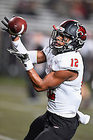 Arkansas State defensive back Charles Grant (12) warms up before NCAA Football game, Thursday, November 20, 2014 in San Marcos, Tex. (Mo Khursheed/TFV Media via AP Images)