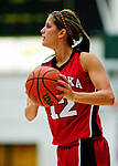 4 January 2010: University of Nebraska Cornhuskers' guard Layne Reeves, a Freshman from Lubbock, Texas, in action against the University of Vermont Catamounts at Patrick Gymnasium in Burlington, Vermont. The Huskers, finishing off their first perfect non-conference season in school history, improved to 13-0 with the 94-50 win over the Lady Cats. Mandatory Credit: Ed Wolfstein Photo