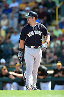 New York Yankees first baseman Kyle Roller (94) during a Spring Training game against the Pittsburgh Pirates on March 5, 2015 at McKechnie Field in Bradenton, Florida.  New York defeated Pittsburgh 2-1.  (Mike Janes/Four Seam Images)
