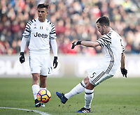 Calcio, Serie A: Sassuolo vs Juventus. Reggio Emilia, Mapei Stadium, 29 gennaio 2017. <br /> Juventus&rsquo; Miralem Pjanic kicks a free kick during the Italian Serie A football match between Sassuolo and Juventus at Reggio Emilia's Mapei stadium, 29 January 2017<br /> UPDATE IMAGES PRESS/Isabella Bonotto