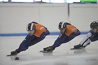 SHORTTRACK: LEEUWARDEN: Elfstedenhal, 28-09-2016, Kick-off Shorttrackploeg seizoen 2016/2017, Training Daan Breeuwsma en Sjinkie Knegt, ©foto Martin de Jong