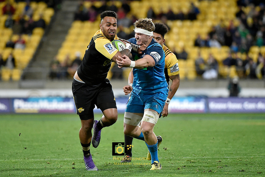 Hurricanes' Willis Halaholo in action during the Super Rugby - Hurricanes v Blues at Westpac Stadium, Wellington, New Zealand on Saturday 2 July 2016. <br /> Photo by Masanori Udagawa. <br /> www.photowellington.photoshelter.com.
