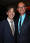 Christian Borle & Richard Ridge.Behind the Scenes at the 2012 Tony Award-Meet The Nominees Press Reception at Millennium Broadway Hotel on May 2, 2012 in New York City. © Walter McBride/WM Photography .