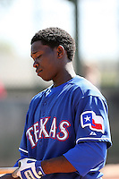 Alejandro Selen, Texas Rangers minor league spring training..Photo by:  Bill Mitchell/Four Seam Images.
