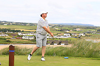Michael Buggy (Castlecomer) on the 9th tee during Round 3 of The South of Ireland in Lahinch Golf Club on Monday 28th July 2014.<br /> Picture:  Thos Caffrey / www.golffile.ie