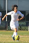 Palos Verdes, CA 02/09/12 - Mikey Hoshina (Peninsula #11) in action during the West vs Peninsula Bay League boys varsity soccer game.