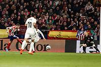 8th February 2020; Wanda Metropolitano Stadium, Madrid, Spain; La Liga Football, Atletico de Madrid versus Granada; Angel Martin Correa (Atletico de Madrid) shoots and scores past goalkeeper Ascandell (Granada) to make it 1-0 in minute 6
