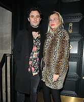LONDON, ENGLAND - FEBRUARY 12: Toby Sebastian and guest at the Gymkhana restaurant re- launch party, Gymkhana, Albemarle Street, on Wednesday 12 February 2020 in London, England, UK. <br /> CAP/CAN<br /> ©CAN/Capital Pictures