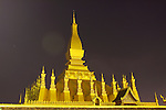 Phra That Luang, Vientiane, Laos at Night