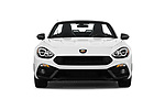 Car photography straight front view of a 2017 Fiat 124-Spider Abarth 2 Door Convertible Front View