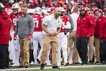Wisconsin Badgers assistant strength and conditioning coach Shaud Williams celebrates during an NCAA College Big Ten Conference football game against the Michigan Wolverines Saturday, November 18, 2017, in Madison, Wis. The Badgers won 24-10. (Photo by David Stluka)