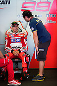 June 9th 2017, Circuit de Catalunya, Barcelona, Spain; Catalunya MotoGP; Friday Practice Session; Jorge Lorenzo of Ducti Team waiting for start of the practice session