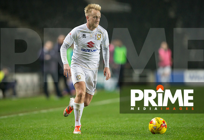 Ben Reeves of Milton Keynes Dons during the Sky Bet League 1 match between MK Dons and Chesterfield at stadium:mk, Milton Keynes, England on 22 November 2016. Photo by Andy Rowland.