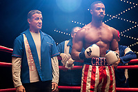 Creed II (2018) <br /> (Creed 2)<br /> Sylvester Stallone stars as Rocky Balboa and Michael B. Jordan as Adonis Creed <br /> *Filmstill - Editorial Use Only*<br /> CAP/MFS<br /> Image supplied by Capital Pictures