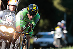 Primoz Roglic (SLO) Team Jumbo-Visma wearing the Green Jersey in action during Stage 10 of La Vuelta 2019 an individual time trial running 36.2km from Jurancon to Pau, France. 3rd September 2019.<br /> Picture: Colin Flockton | Cyclefile<br /> <br /> All photos usage must carry mandatory copyright credit (© Cyclefile | Colin Flockton)
