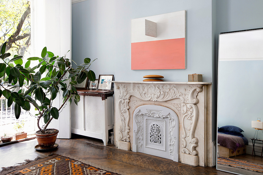 classic marble fireplace