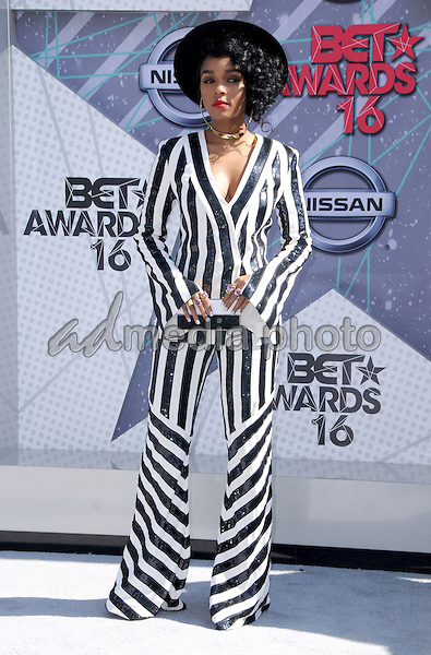 26 June 2016 - Los Angeles. Janelle Monae. Arrivals for the 2016 BET Awards held at the Microsoft Theater. Photo Credit: Birdie Thompson/AdMedia