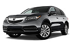 Stock pictures of low aggressive front three quarter view of 2014-2016 Acura MDX Technology 5 Door SUV