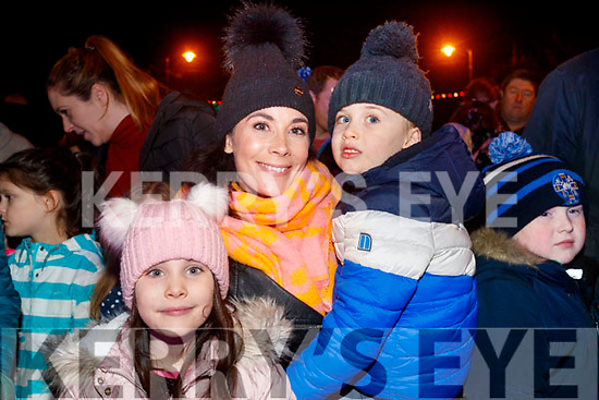 Caoimhe, Riain Sean Hallinan at the New year's eve fireworks in in Tralee.