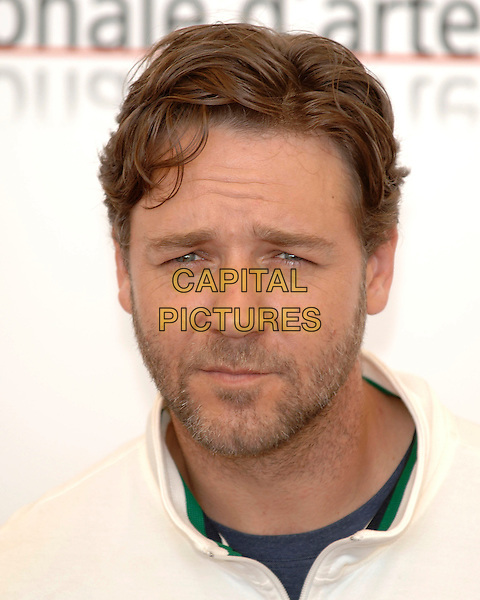 "RUSSELL CROWE.photocall for ""Cinderella Man"".La Biennale, Venezia.62nd Venice Film Festival, Italy.5 September 2005.Ref: PL.portrait headshot beard facial hair.www.capitalpictures.com.sales@capitalpictures.com.©Capital Pictures."