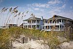 Beach houses, Wrightsville Beach, New Hanover County, NC, USA