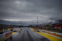 May 5, 2017; Commerce, GA, USA; Overall view of water on the ground during a rain delay to qualifying for the NHRA Southern Nationals at Atlanta Dragway. Mandatory Credit: Mark J. Rebilas-USA TODAY Sports