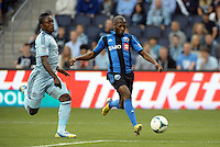 KANSAS CITY, KS - June 1, 2013:<br /> Sanna Nyassi (11) midfield Montreal Impact goes past Mechack Jerome (24) defender Sporting KC .<br /> Montreal Impact defeated Sporting Kansas City 2-1 at Sporting Park.