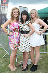 Ruth Hoey, Jane Ludow and Sinead O'Rourke from Drogheda celebrate Jane's 20th birthday at the Bellewstown Races...Photo NEWSFILE/Jenny Matthews.(Photo credit should read Jenny Matthews/NEWSFILE)....This Picture has been sent you under the condtions enclosed by:.Newsfile Ltd..The Studio,.Millmount Abbey,.Drogheda,.Co Meath..Ireland..Tel: +353(0)41-9871240.Fax: +353(0)41-9871260.GSM: +353(0)86-2500958.email: pictures@newsfile.ie.www.newsfile.ie.FTP: 193.120.102.198.