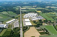 Logistik Hallen an der A1 Autobahnabfahrt Hamburg Süd Rade: EUROPA, DEUTSCHLAND, HAMBURG, NIEDERSACHSEN  Logistik Hallen an der A1 Autobahnabfahrt Hamburg Süd Rade