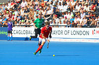 David Goodfield of England in midfield during the Hockey World League Semi-Final match between England and Argentina at the Olympic Park, London, England on 18 June 2017. Photo by Steve McCarthy.