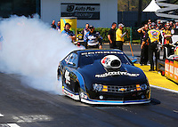 Mar 14, 2014; Gainesville, FL, USA; NHRA pro stock driver Chris McGaha during qualifying for the Gatornationals at Gainesville Raceway Mandatory Credit: Mark J. Rebilas-USA TODAY Sports