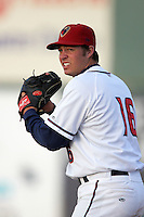 May 9, 2010: Ashton Mowdy of the Lancaster JetHawks during game against the Inland Empire 66'ers at Clear Channel Stadium in Lancaster,CA.  Photo by Larry Goren/Four Seam Images