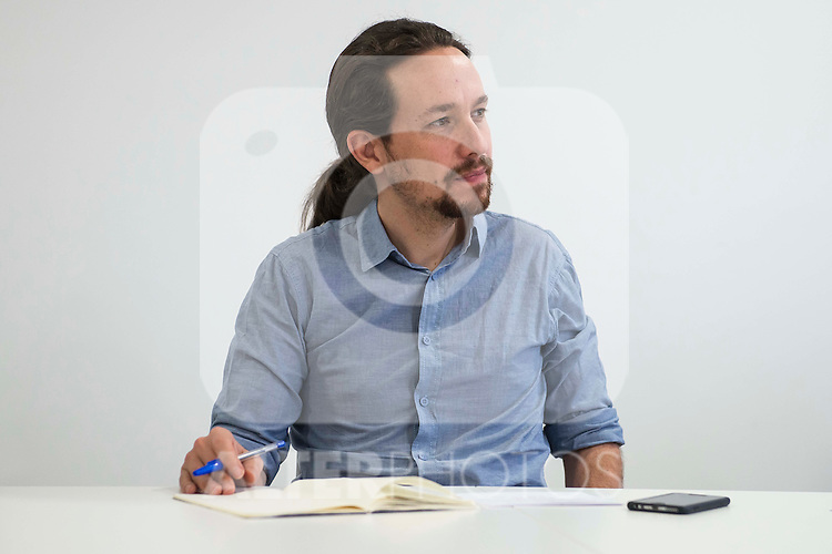 Pablo Iglesias during PODEMOS meeting with autonomy general and organizational secretaries sat Real Palace in Madrid March 17,2016. (ALTERPHOTOS/Borja B.Hojas)