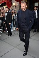 www.acepixs.com<br /> September 10, 2017 New York City<br /> <br /> David Beckham was seen leaving Balthazar in New York City on September 10, 2017.<br /> <br /> Credit: Kristin Callahan/ACE Pictures<br /> <br /> Tel: 646 769 0430<br /> Email: info@acepixs.com