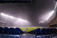 Chicago, IL - Wednesday June 22, 2016: Weather Delay during a Copa America Centenario semifinal match between Colombia (COL) and Chile (CHI) at Soldier Field.