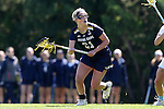 03 April 2016: Notre Dame's Grace Muller. The University of North Carolina Tar Heels hosted the University of Notre Dame Fighting Irish in a 2016 NCAA Division I Women's Lacrosse match. Maryland won the game 14-8.