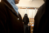 Egypt / Cairo / 22.12.2012 / Egyptian women in a polling center in Imbaba, during the second day of the constitutional referendum. © Giulia Marchi