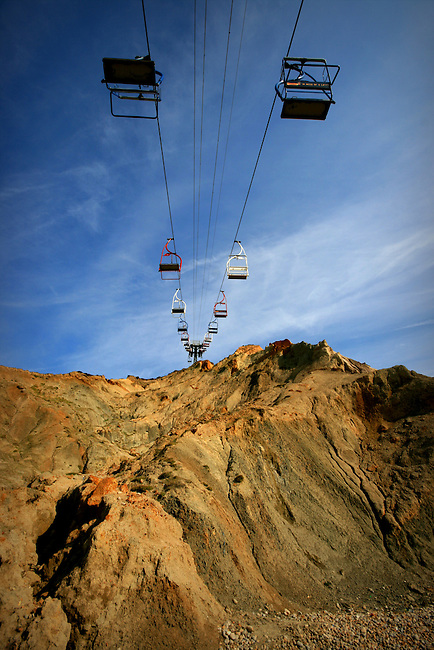 Chair lifts at Alum Bay, Isle of Wight