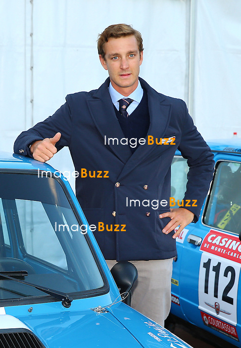 Pierre Casiraghi, son of Princess Caroline of Hanover, participates in the 17th Monte-Carlo Historical Rallye with an AUTOBIANCHI A112 ABARTH of 1978. His co-pilot is Carlo Borromeo, the brother of Beatrice Borromeo.<br /> Monaco, January 24, 2014.