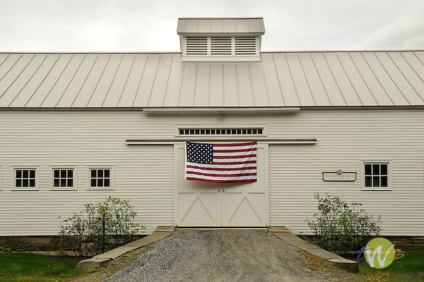 Maplewood Farm, Woodstock, VT. Golden Cow Barn.